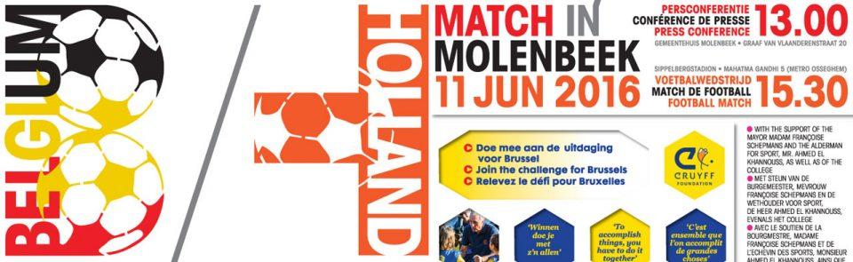 Op 11 juni 2016 in Molenbeek start de 365 dagen uitdaging voor Brussel